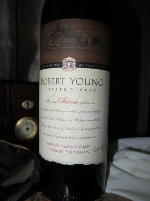 My First Eddie! – 2002 Robert Young Vineyards Scion