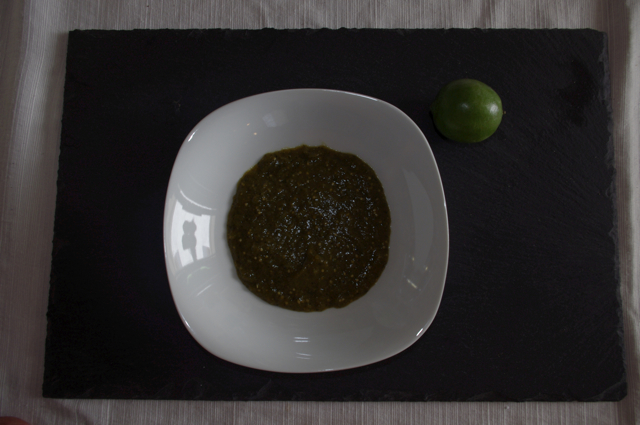 Warm Tomatillo Salsa