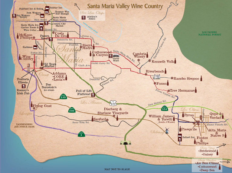 Santa Maria Valley Map
