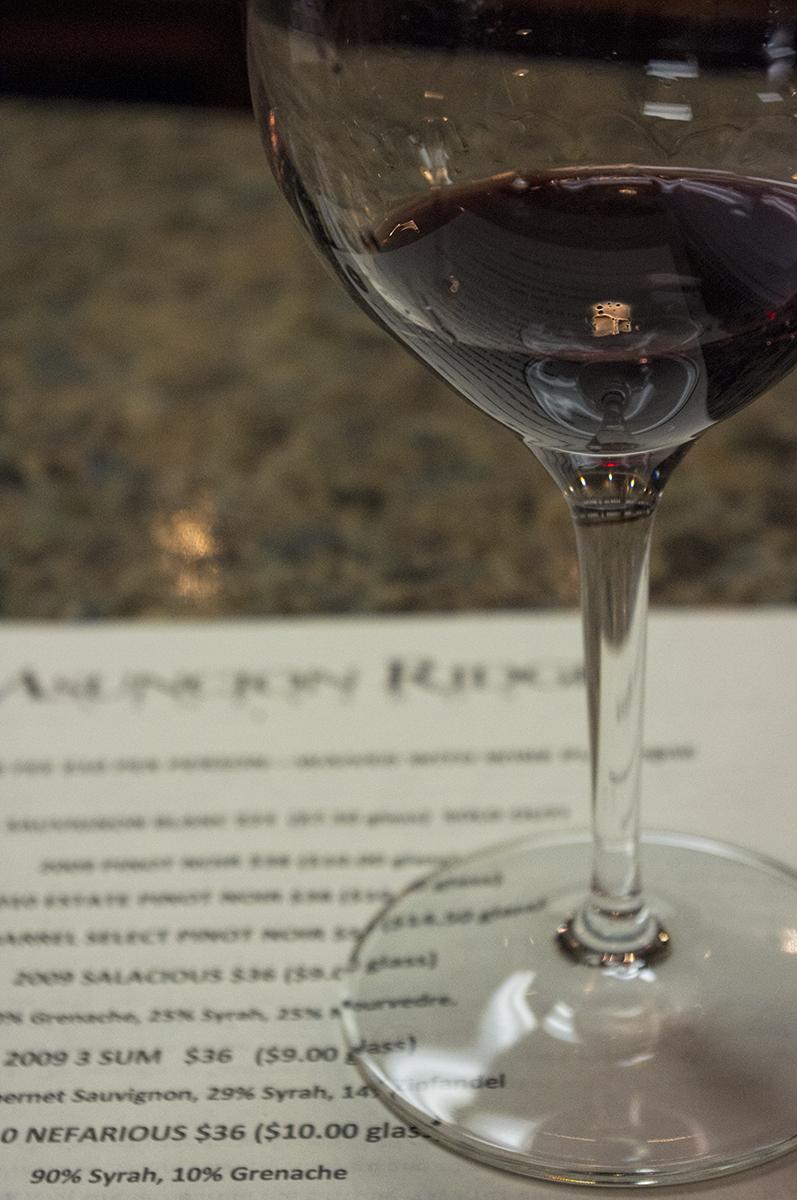 Tasting menu and my glass