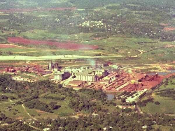 Bauxite mine and refining in Jamaica