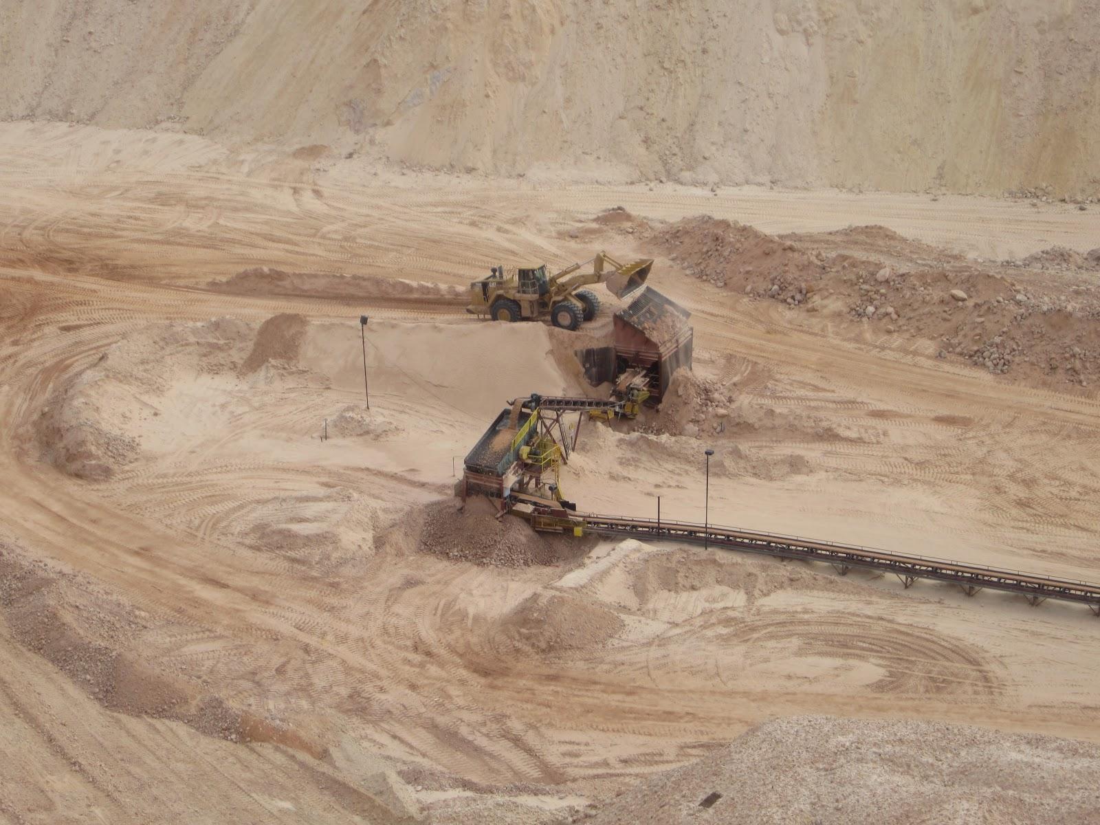 Sand mine in Nevada