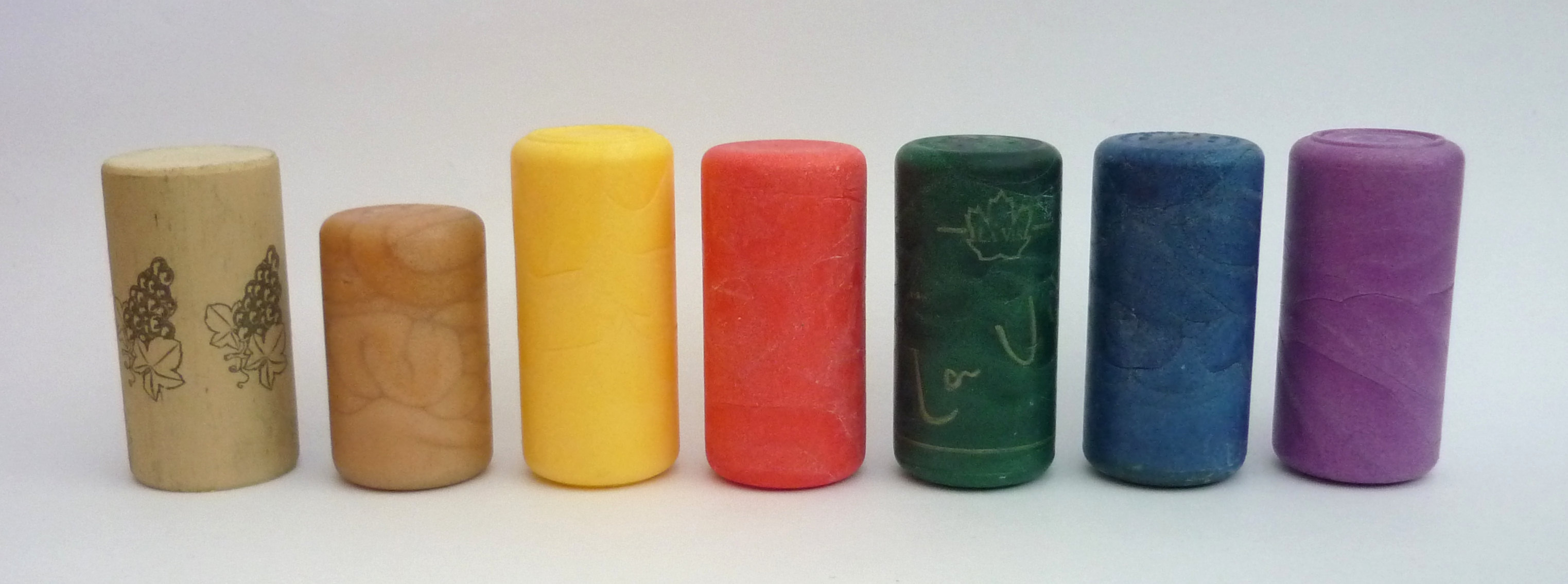 Petrochemical based synthetic corks