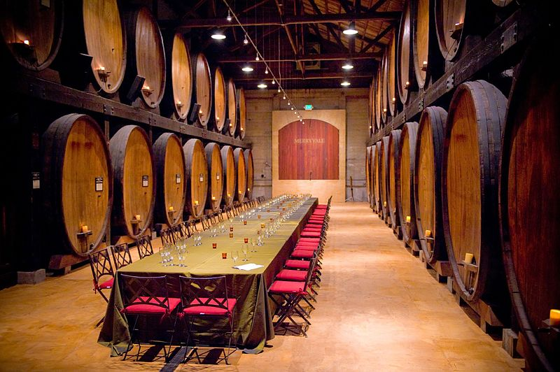 Winery Barrel Room