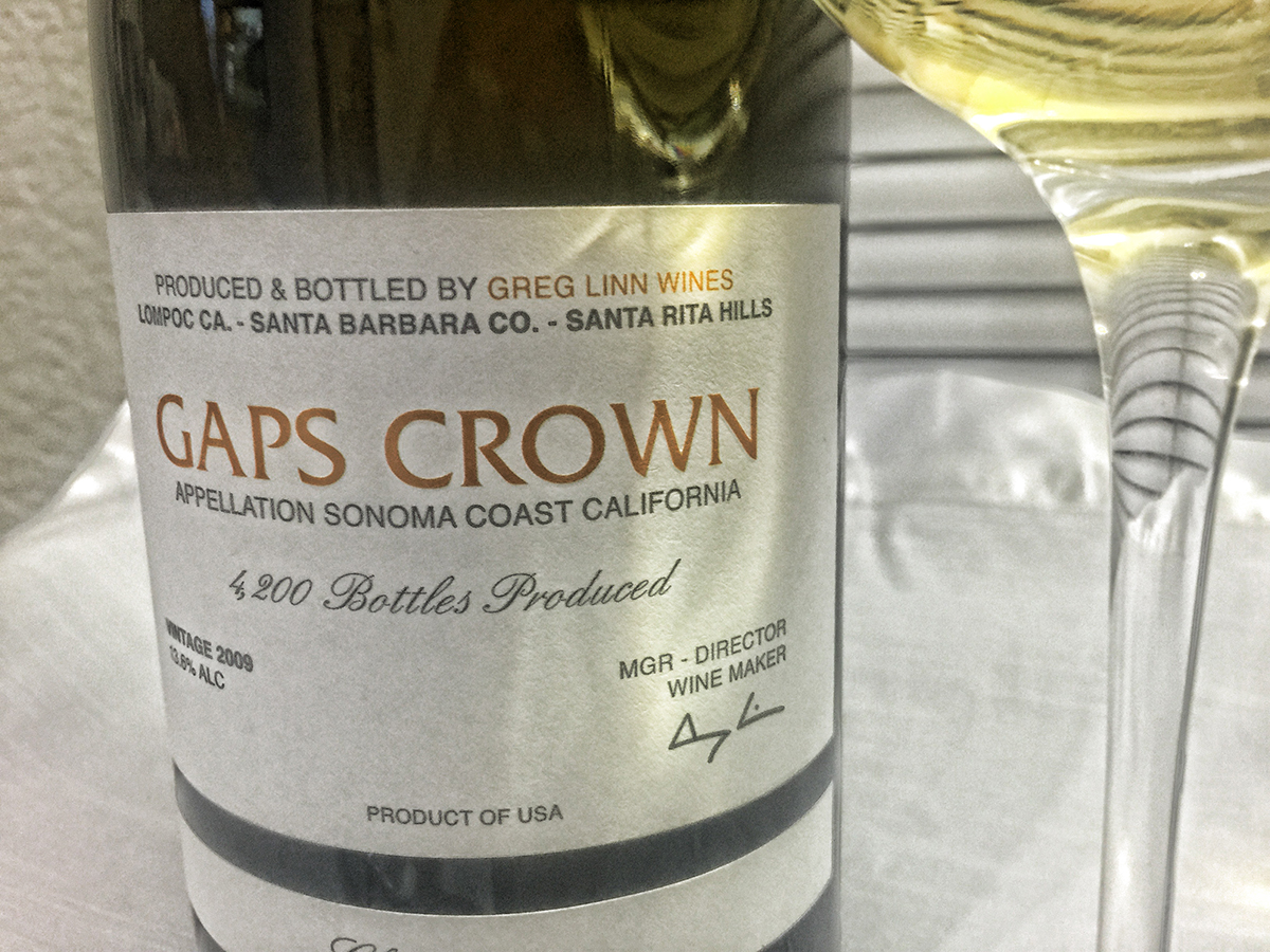 Tasting Notes: 2009 Gap's Crown Chardonnay