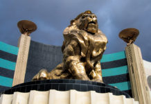 MGM Grand Lion at front entrance